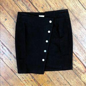 J.O.A Black Asymmetrical Mini Skirt
